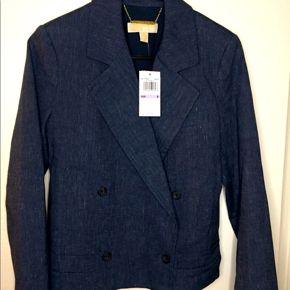 Michael Kors women's denim blazer new with tags